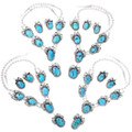 Navajo Turquoise Silver Jewelry Set 25805