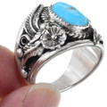 Sterling Silver Navajo Turquoise Ring 23204