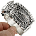 Traditional Native American Silver Mens Watch 31481