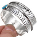 Sterling Silver Feather Cuff Native American Bracelet 25081