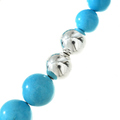 Turquoise Magnesite Big Bead Necklace 29745