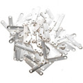 Silver Findings 50 pair of Silver 3 strand Necklace Spacers 2mm 0130