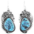 Kingman Turquoise Nugget Earrings 23195