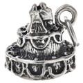 Sterling Silver Wedding Cake Charm 35437