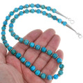 Silver Blue Turquoise Southwest Necklace 24014