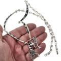 Southwest Sterling Link Necklace 15178