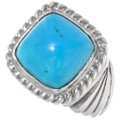 Turquoise Sterling Mens Ring 22409