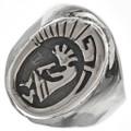 Hopi Kokopelli Sterling Mens Ring 29705