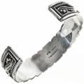 Southwest Silver Gemstone Cuff 29052