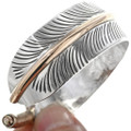 Sterling Silver Gold Feather Bracelet 23566