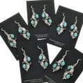 Turquoise Sterling Navajo Dangle Earrings 25868