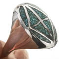 Inlaid Turquoise Coral Ring 25520