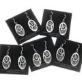 Bear Paw Symbol Silver Earrings 28908