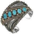 Turquoise Authentic Navajo Cuff Bracelet 25154