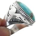 Turquoise Mountain Thunderbird Mens Ring 29677