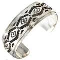 Overlaid Silver Navajo Cuff 26694