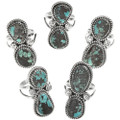 Navajo Pointer Style Sterling Rings 28516