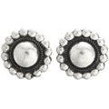 Navajo Silver Concho Earrings 23557