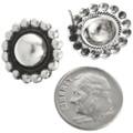 Sterling Concho Stud Earrings 23557