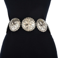 Hammered Silver Navajo Concho Belt 14373