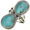 Navajo Turquoise Silver Ladies Ring 28518