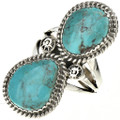 Navajo Turquoise Silver Ladies Ring 28518