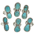 Native American Silver Turquoise Ring 28518