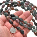 9mm by 15mm Ocean Agate Beads 16 inch Strand
