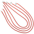Red Coral Beaded Necklace 25082