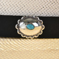 Navajo Turquoise Concho Hatband 22096