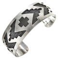 Southwest Silver Overlaid Cuff Bracelet 29506