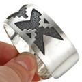 Sterling Navajo Rug Pattern Bracelet 29506