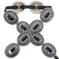 Hammered Silver Navajo Concho Belt 23028