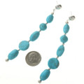 Natural Turquoise Dangle Earrings 28399