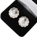 Hammered Silver Navajo Concho Cuff Links 20855