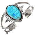 Turquoise Opal Silver Cuff Bracelet 29710