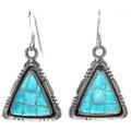 Turquoise French Hook Dangle Earrings 29710