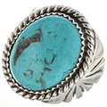 Blue Turquoise Navajo Mens Ring 29391