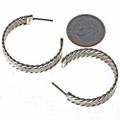 Sterling J Hoop Navajo Earrings 23128