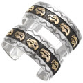 Mens Ladies Gold Sterling Silver Navajo Made Cuff 28609