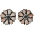 Pink Shell Onyx Post Earrings 28869