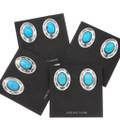 Silver Concho Native American Earrings 23553