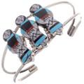 Lapis Jet Turquoise Zuni Cuff Bracelet