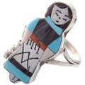 Zuni Inlaid Turquoise Ring 28003