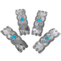 Sterling Turquoise Hair Barrette 11544