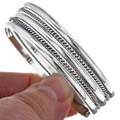 Southwest Silver Twist Wire Bracelet 29644