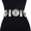 Hand Hammered Silver Concho Belt 13842