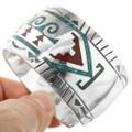 Navajo Turquoise Chip Inlay Bracelet 29599