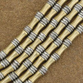 Wholesale Lot of 12 4mm to 5mm Silver and Brass Bali Bead Strand