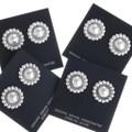 Southwest Sterling Concho Post Earrings 10658